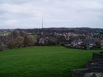Kirkburton - Kirkburton: Looking east from Riley towards Low Town and Turnshaws