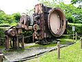 Kiso River Electric Power Museum Miura Dam wash-out valve (Ushio valve) 2.jpg
