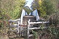 Kissing gate before the footbridge over the A21 - geograph.org.uk - 1546035.jpg