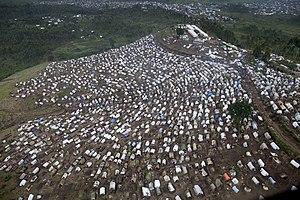 MONUSCO - An IDP camp around a base in Kitshanga