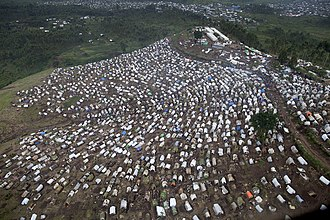 MONUSCO - An IDP camp around a base in Kitshanga