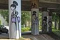 Klagenfurt Tarviser Strasse Autobahn-Bruecken-Pfeiler Graffiti 21082008 1410.jpg