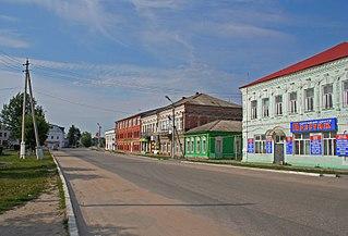 Spas-Klepiki Town in Ryazan Oblast, Russia