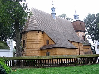 Wooden churches of Southern Lesser Poland - Church of All Saints in Blizne, east of Jasienica Rosielna