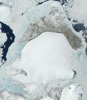 Komsomolets Island - Terra-MODIS image of Komsomolets Island