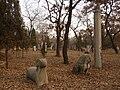 Kong Shangxian - ram, feline and pillar - looking SE - P1060132.JPG
