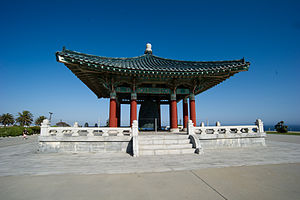 South Korea–United States relations - The Korean Bell of Friendship at Angel's Gate Park in Los Angeles, California