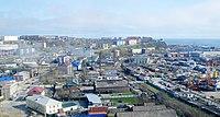 Вид на город Корсаков