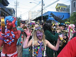 De fiering fan Mardi Gras yn New Orleans (2009).
