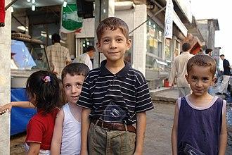 History of the Kurds - Kurdish boys, Diyarbakir.