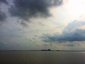 Karimnagar - Dense Clouds over LMD Reservoir at Karimnagar