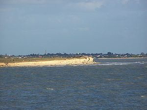 The limestone cliffs around La Rochelle display the Jurassic geology of the area.
