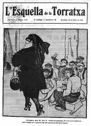 L'Esquella de la Torratxa - 1920 cover with a drawing by Opisso