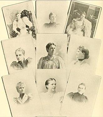 John G. Carlisle - Ladies of the Cabinet: Mrs. Lamont, Mrs. Olney, Mrs. Bissell, Mrs. Gresham, Mrs. Cleveland, Mrs. Carlisle, Mrs. Herbert, Mrs. Smith, Miss Morton
