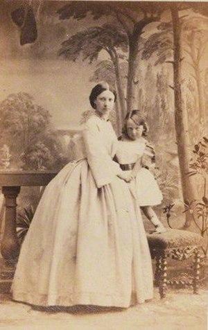 Robert Kingscote - Lady Emily Marie Kingscote (née Curzon); Nigel Richard Fitzhardinge Kingscote, 1860, by Camille Silvy