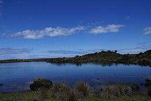 Português: Lagoa da Fajã dos Cubres e as cores...