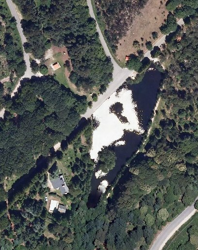 Lagoa de Castiñeiras, 2014. PNOA cedido por © Instituto Geográfico Nacional