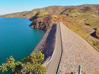 Lake Argyle - Dam wall
