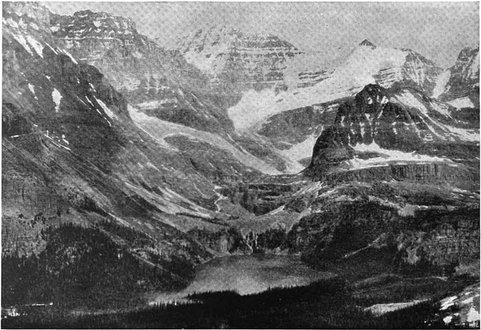Lake O'Hara rests in a bowl in the mountains.jpg
