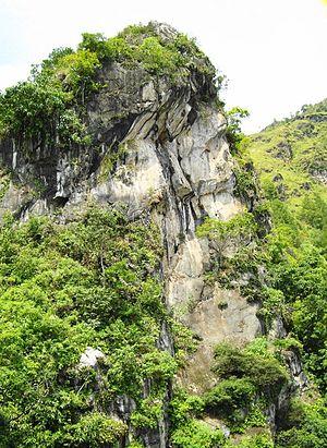 Lake Toba - Batu Gantung (Hanging stone) in Lake Toba