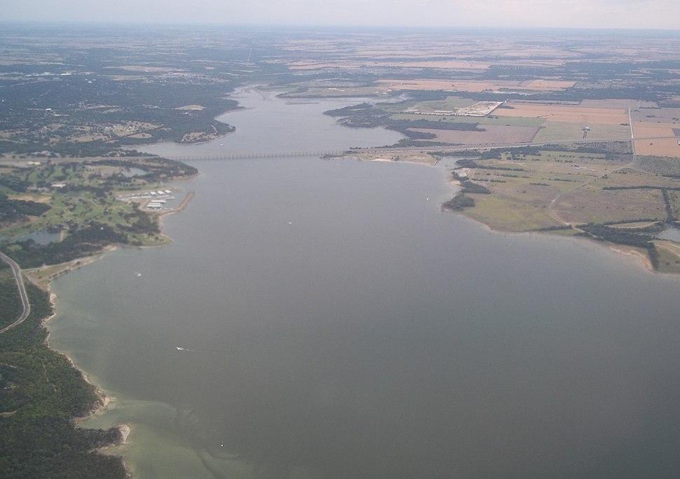 Lake Waco southern portion