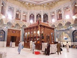 Lal Shahbaz Qalandar - Interior of the shrine of Lal Shahbaz Qalandar in Sehwan