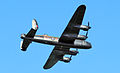 Lancaster bomber over Cowes in May 2013 5.jpg