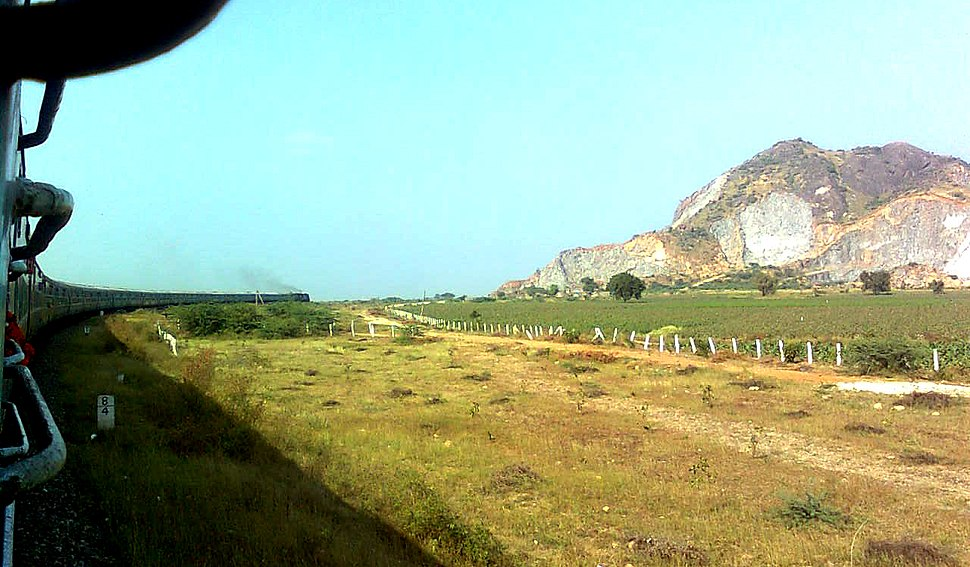 Landscape view at Guntur from Janmabhoomi Express