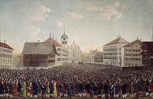 Landsgemeinde - Landsgemeinde in Trogen, AR (1814)