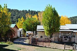 Las Trampas, New Mexico - View of the Las Trampas Historic District.