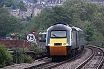 Last day of GWR HSTs - 43198-43002 arriivng at Bath Spa.JPG