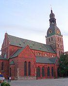 Latvia Riga Cathedral evening