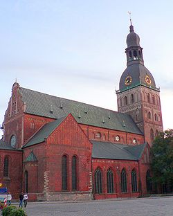 Latvia Riga Cathedral evening.jpg