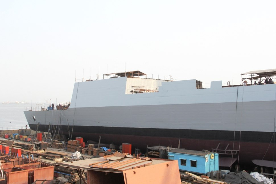 Launching of INS Visakhapatnam - 3