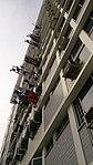 Laundry drying on poles at a Housing and Development Board flat, Singapore - 20140119.jpg