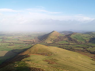 Church Stretton - View of the Lawley hill (looking north) from the top of Caer Caradoc