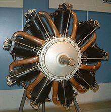Motore a pistoni radiali rotativi Le Rhône 9C (singola stella)