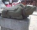Le Temple Shintô Kisshô-in Ten'man-gû - La statue de pierre d'une vache couchée.jpg