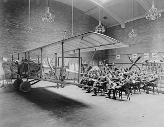 Royal Flying Corps Canada - Lecture on rigging at the University of Toronto's School of Aviation, RFC Canada