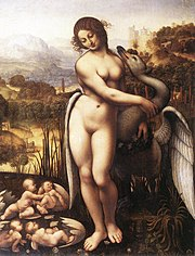 Leda and the Swan, copy by Cesare Sesto, 1515-1520, Wilton House, England