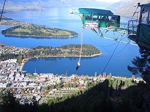 Ledge Bungy, Queenstown, New Zealand