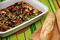 Leek casserole with cashew nuts and raisins (4660194971).jpg