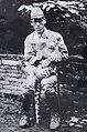 Leopard named Hachi and the platoon leader Naruoka Masahisa 01.jpg