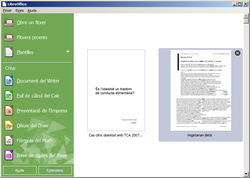 LibreOffice 4.4, finestra incial