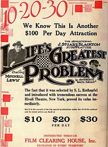 Life's Greatest Problem (1918) - Ad 1.jpg