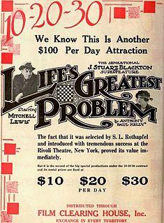 <i>Lifes Greatest Problem</i> 1918 film by J. Stuart Blackton