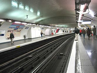 Nation (Paris Métro and RER) - Image: Ligne 1 Nation 3