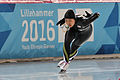 Lillehammer 2016 - Speed skating Ladies' 500m race 2 - Moe Kumagai.jpg