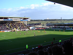 Lincolnshire derby - Sincil Bank,  Home of Lincoln City since 1895.