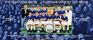 Linfield F.C. - The Linfield squad for the 1957–58 season which included the newly signed Newcastle United legend Jackie Milburn.